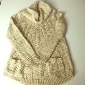 Anthropologie Guinevere cable knit sweater small &